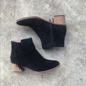 Banana Republic Fringe Suede Ankle Boots